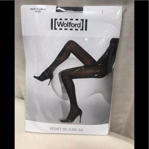 Wolford Velvet De Luxe 66 Tights ..Coca Size Large